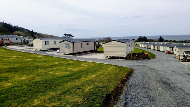 seaview pitches at Ardmillan Castle Holiday Park, Girvan