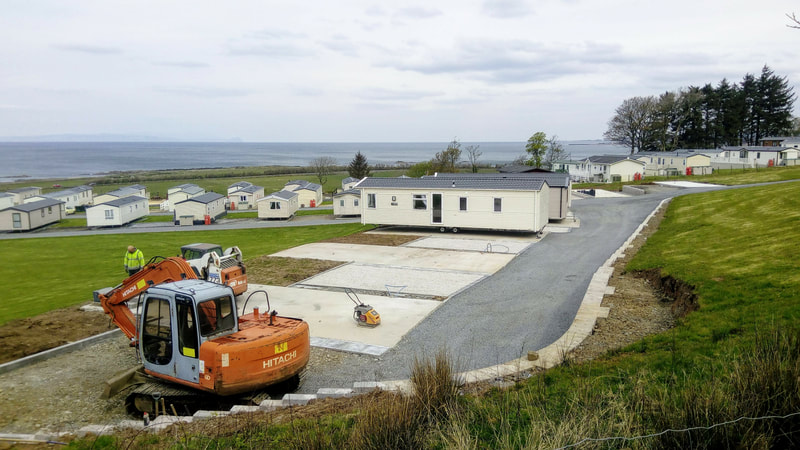 stunning new pitches at Ardmillan Castle Holiday Park