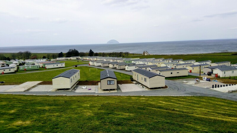 new caravan bases at Ardmillan Castle Holiday Park